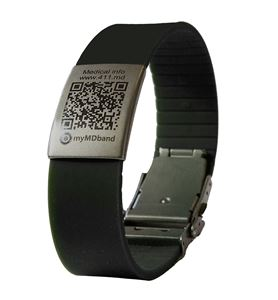 Picture of MyMDband Medical Bracelet with 1 year subscription